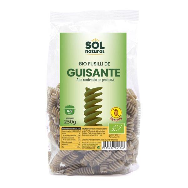 Fusilli de Guisantes Verdes Sin Gluten Bio 250g