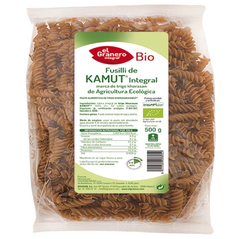 Fusilli de Kamut Integral Bio 500g, 1 ud