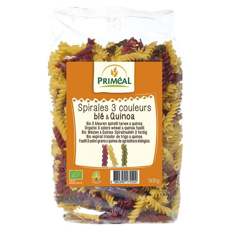 Fusilli Tricolor con Quinoa Bio 500g, 1 ud