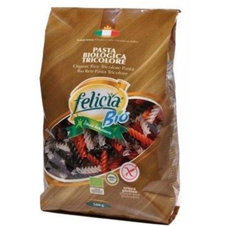 Fusilli Tricolor de Arroz Integral Sin Gluten Bio 500g