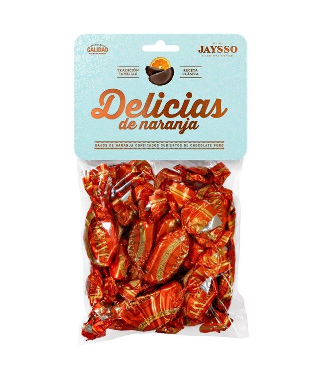 Gajos de naranja con chocolate Jaysso bolsa 250gr