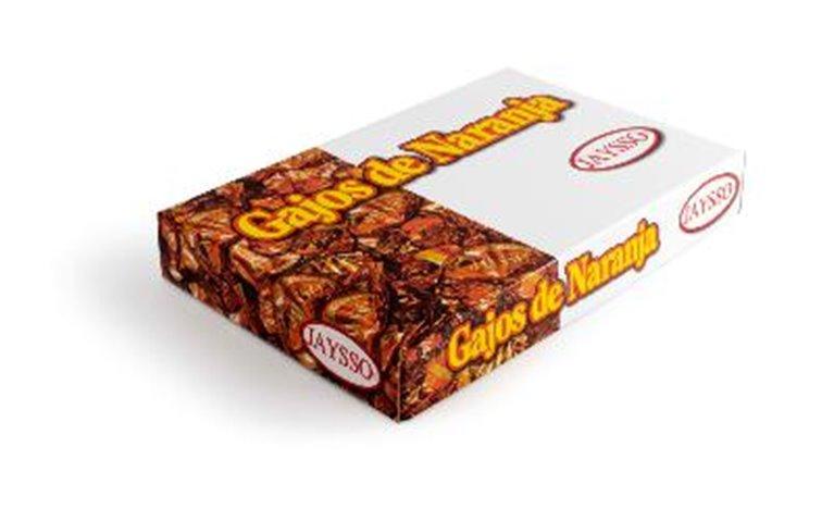Gajos de naranja con chocolate Jaysso caja 1500gr, 1 ud
