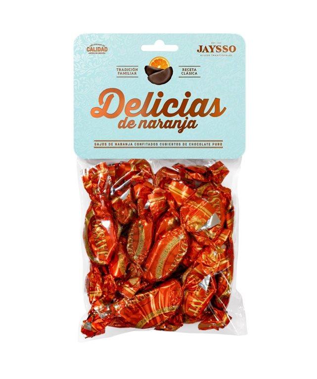 Gajos de naranja con chocolate Jaysso