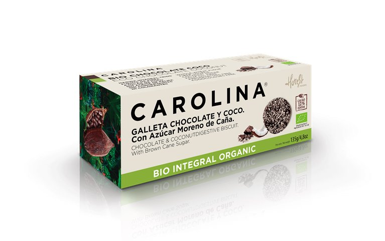 Galleta Bio Digestive Integral bañada con Chocolate y Coco rallado