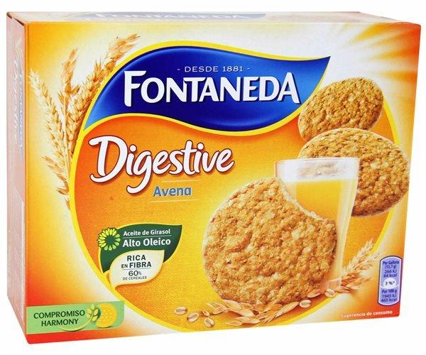 Galleta Fontaneda Digestive con avena (rica en fibra, 60% cereales, 700 gr)