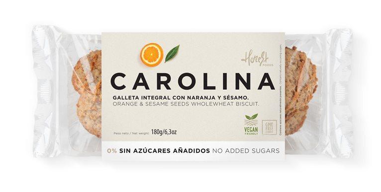 Galleta Sin Azúcares Integral Artesana con Mermelada de Naranja y Sésamo