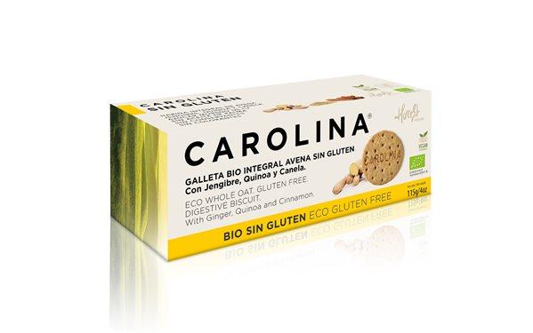Galleta Sin Gluten Bio Avena Integral con Jengibre, Quinoa y Canela