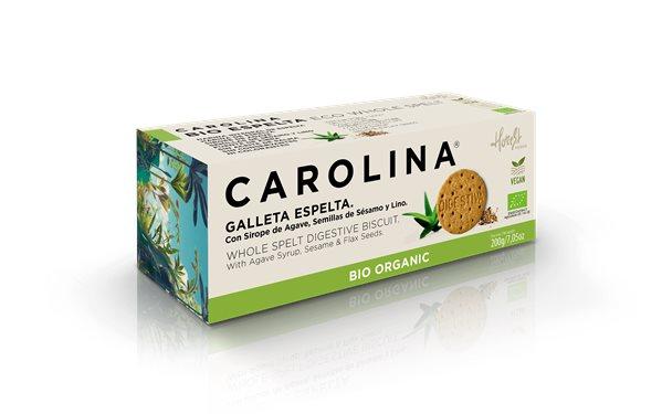 Galletas Bio Digestive Espelta Integral con Sirope de Ágave, Semillas de Sésamo y Lino