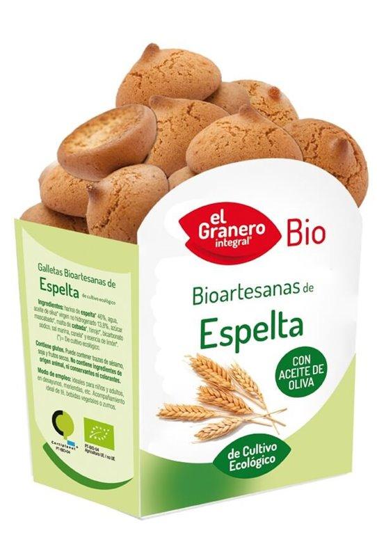 Galletas bioartesanas de espelta, 250 gr
