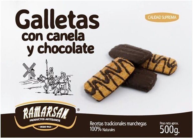 Galletas canela y chocolate 500gr