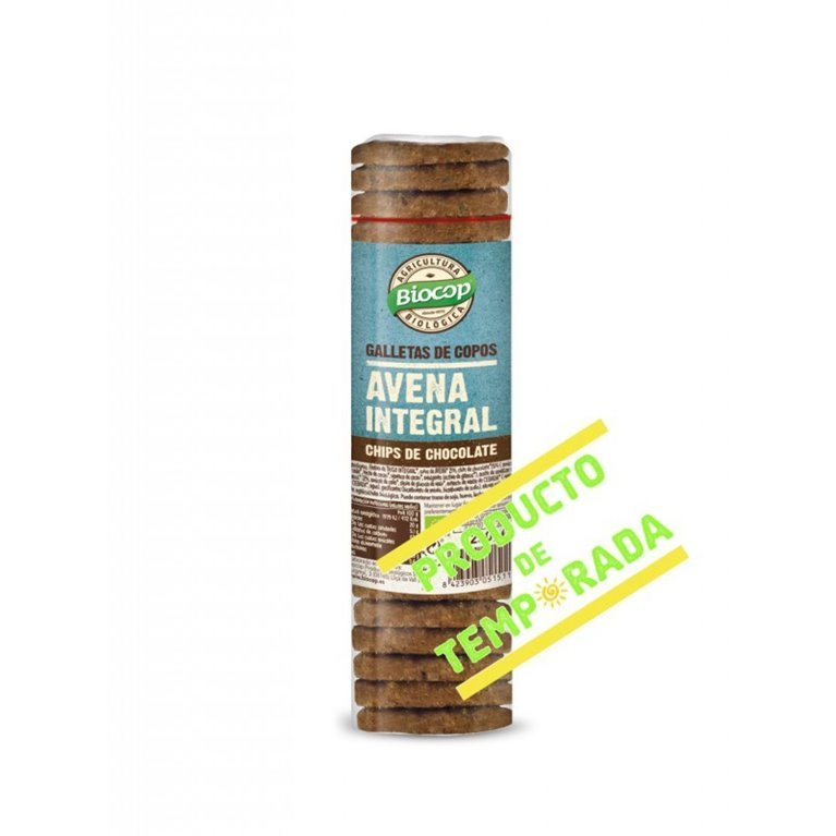 Galletas con Copos de Avena Integral con Chips de Chocolate Bio 250g