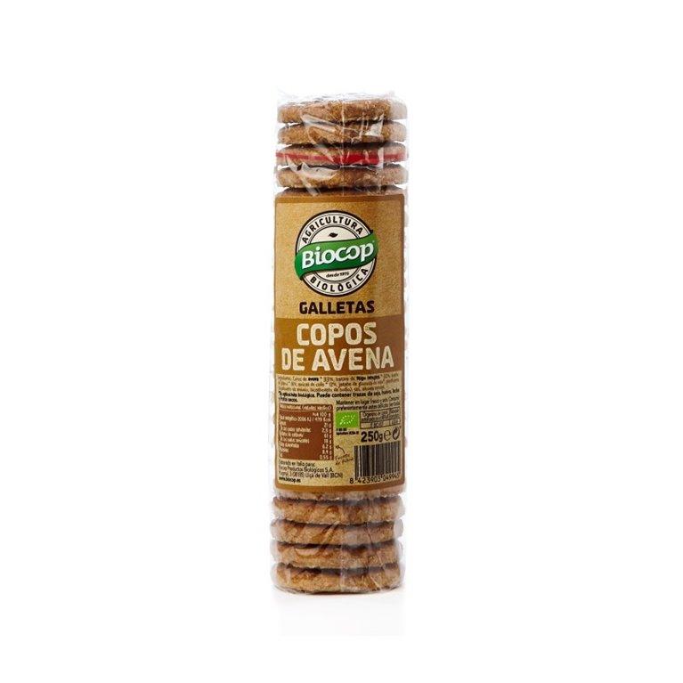 Galletas copos de avena, 250 gr
