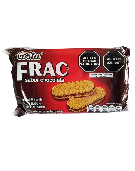 GALLETAS COSTA FRAC. CHOCOLATE 273 GR