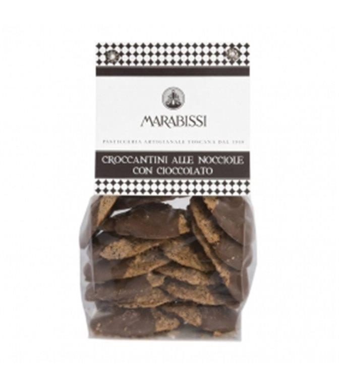 Galletas Crujientes de Avellana con Chocolate 200gr. Marabissi. 8ud