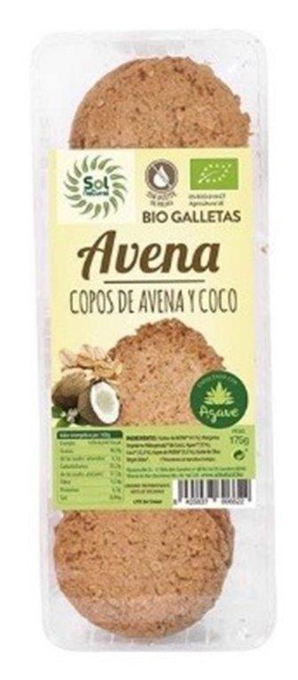 Galletas de Avena, Coco y Agave Bio 175g, 1 ud