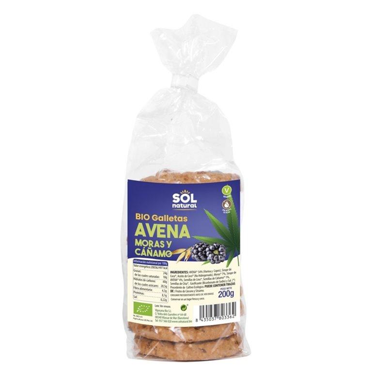Galletas de Avena con Moras y Cáñamo Bio 200g
