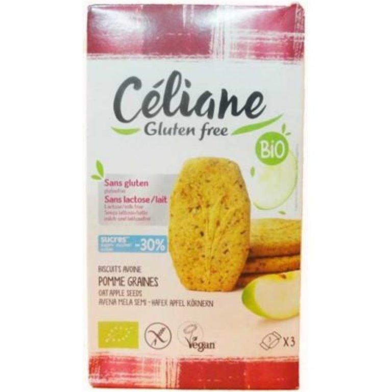 Galletas de Avena con Manzana y Semillas Sin Gluten Bio 140g