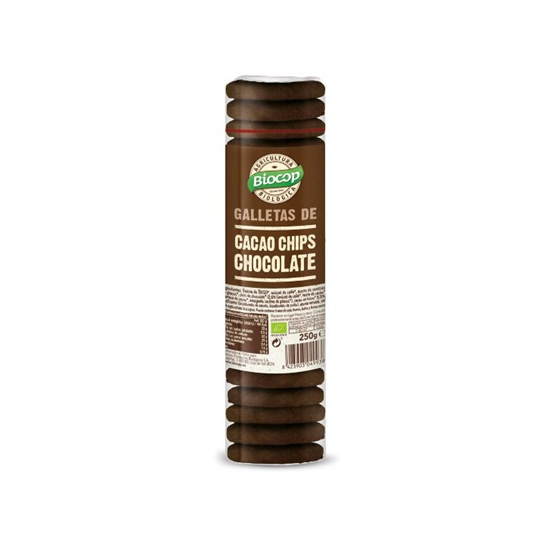 Galletas de Cacao con Chocolate Bio 250g Biocop