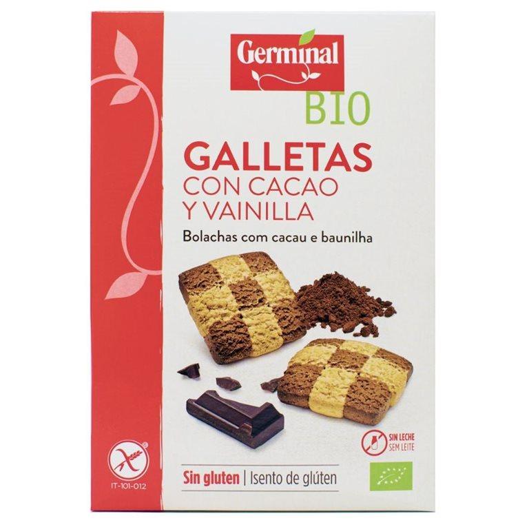 Galletas de Cacao y Vainilla Sin Gluten Bio 250g