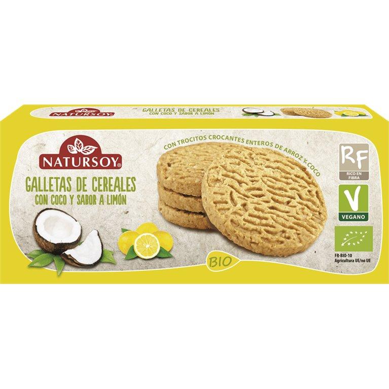 Galletas de Cereales con Coco y Limón Bio 130g