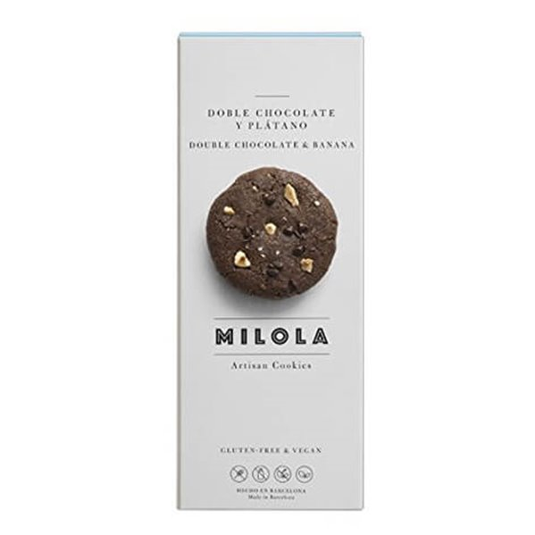 Galletas de doble chocolate y plátano veganas MiLola