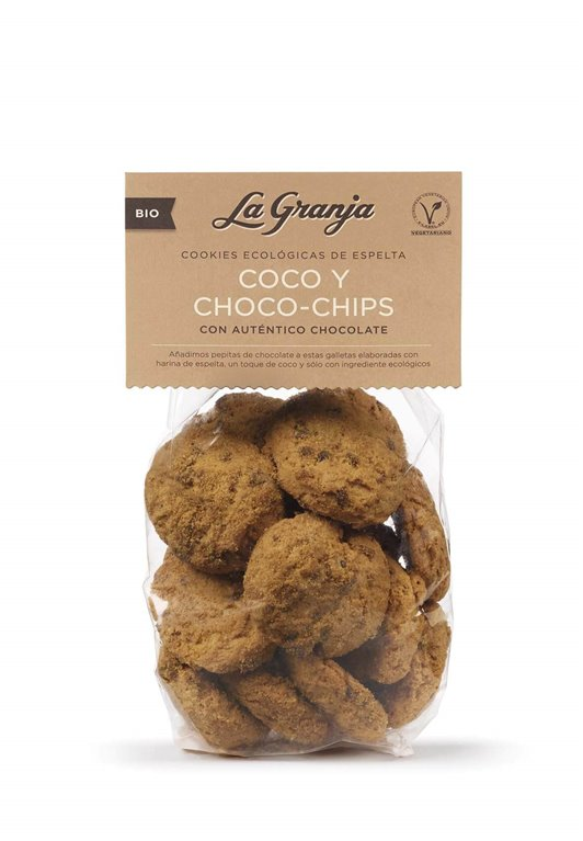 Galletas de espelta coco y choco chips - La granja