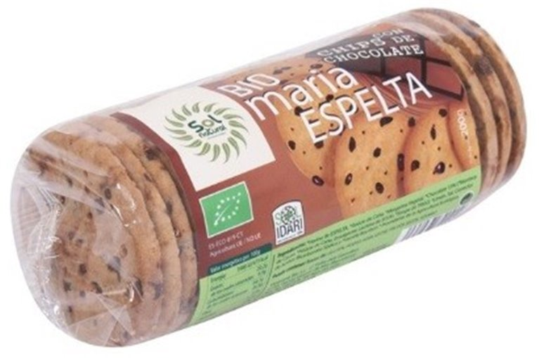 Galletas María de Espelta con Chips de Chocolate Bio 200g, 1 ud