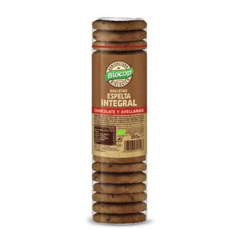 Galletas de espelta integral con chocolate y avellanas, 1 ud