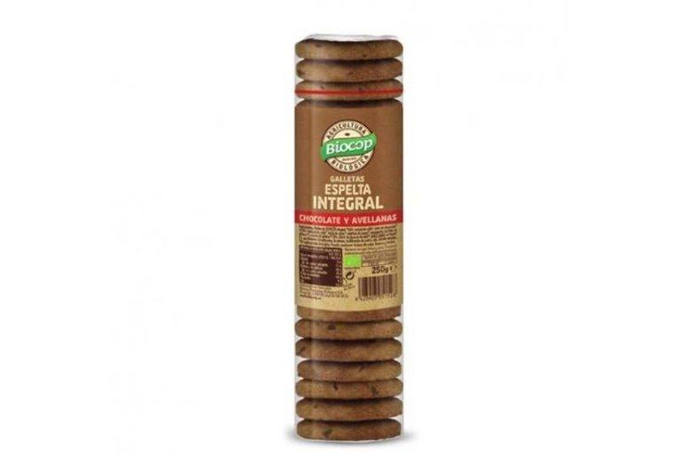 Galletas de espelta integral con chocolate y avellanas