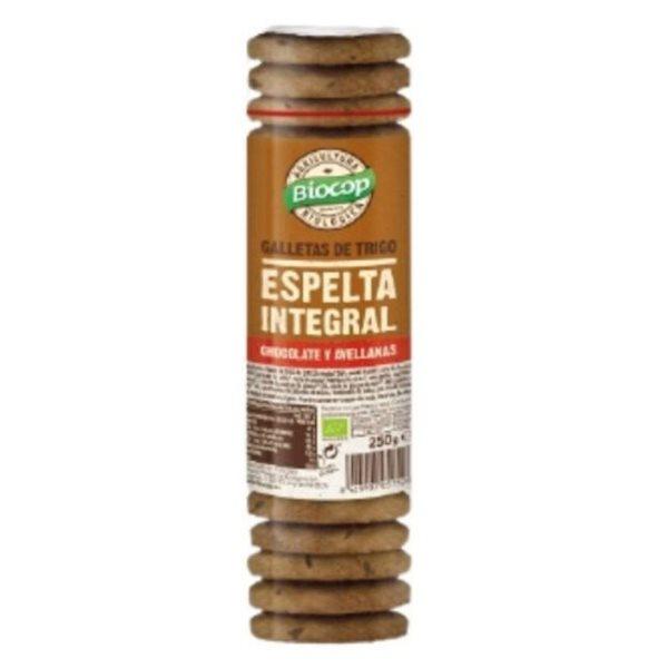 Galletas de Espelta Integral con Chocolate y Avellanas Bio 250g