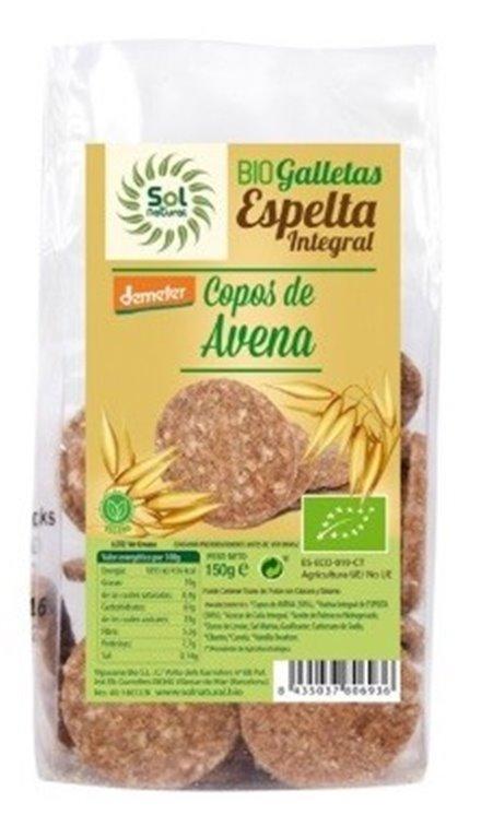 Galletas de Espelta Integral con Copos de Avena Bio 150g