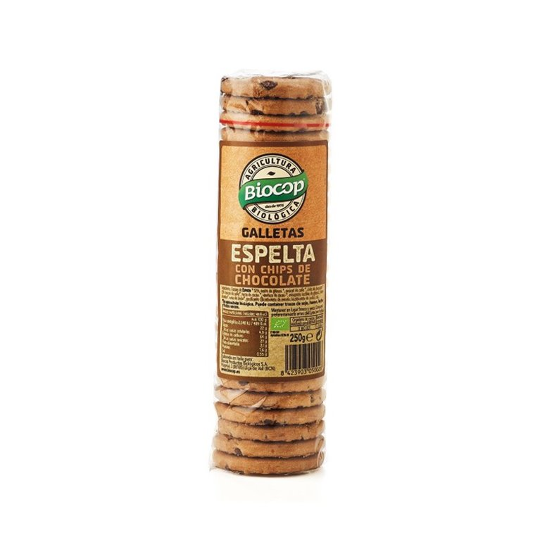Galletas de Espelta y Chocolate Bio 250g Biocop