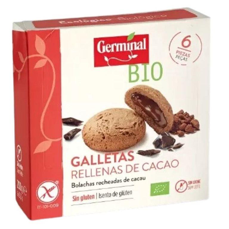 Galletas de Quinoa Rellenas de Cacao Sin Gluten Bio 200g