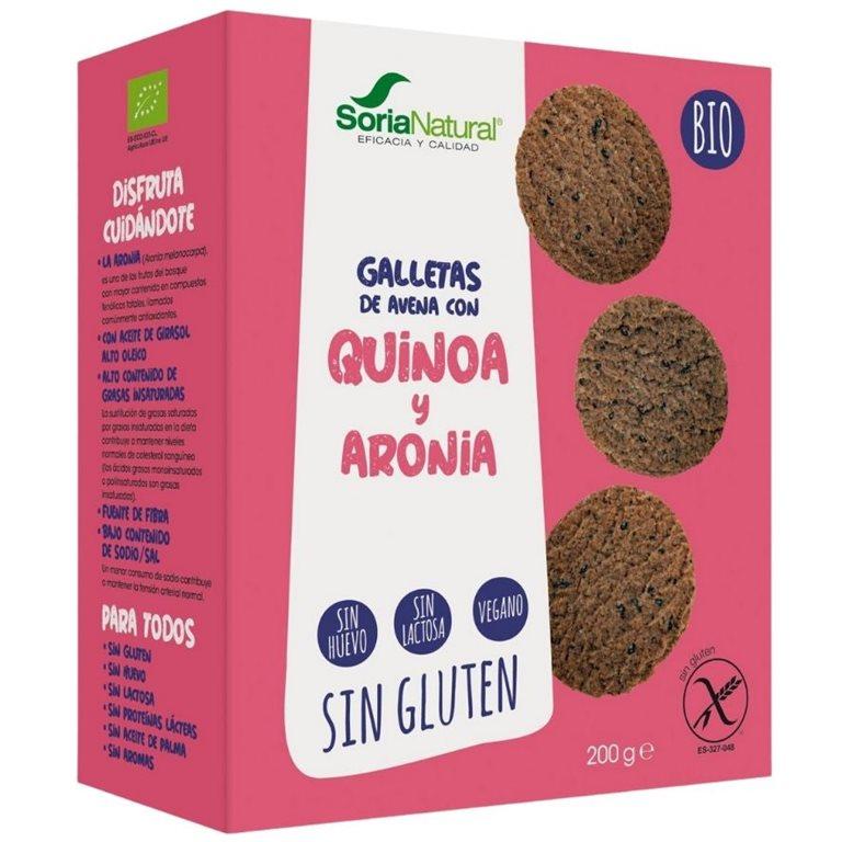 Galletas de Quinoa Sin Gluten Bio 200g, 1 ud