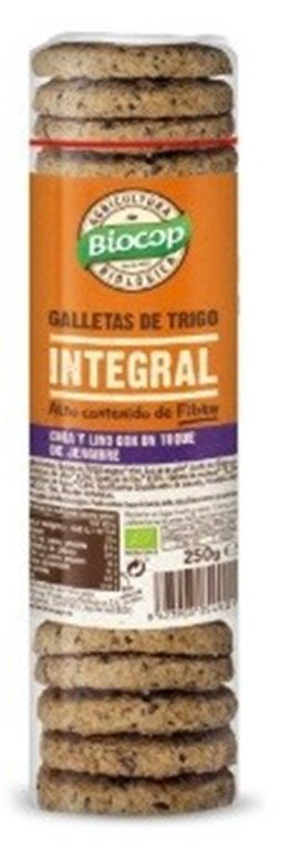 Galletas de Trigo Integral con Chia, Lino y Jengibre Bio 250g