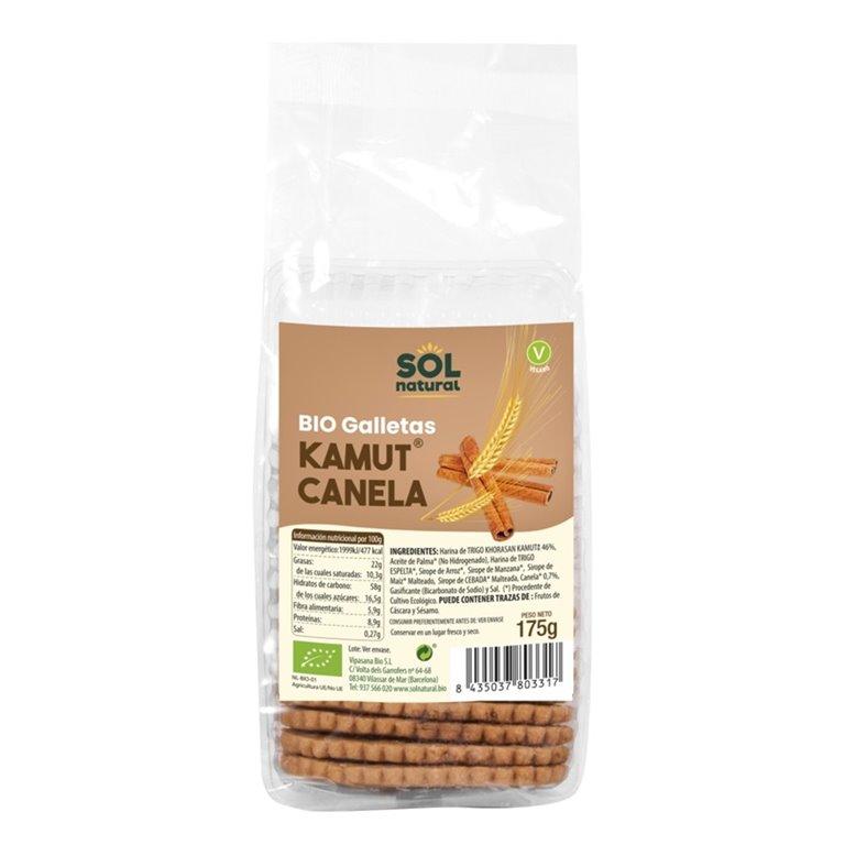 Galletas de TRIGO khorasan KAMUT® con Canela Bio 175g