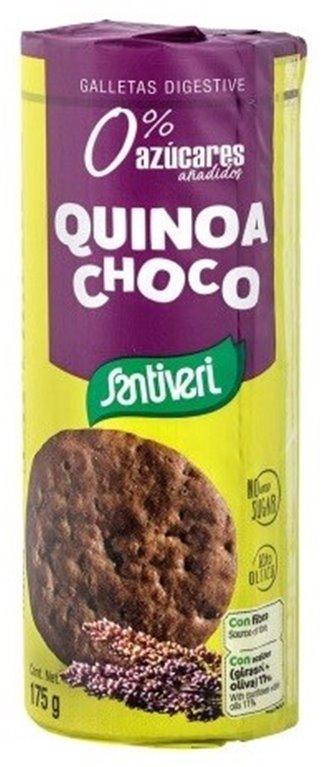 Galletas Digestivas con Quinoa y Chocolate (Sin Azúcar) 175g, 1 ud