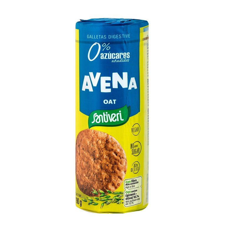 Galletas Digestive Avena Sin Azúcar 190g