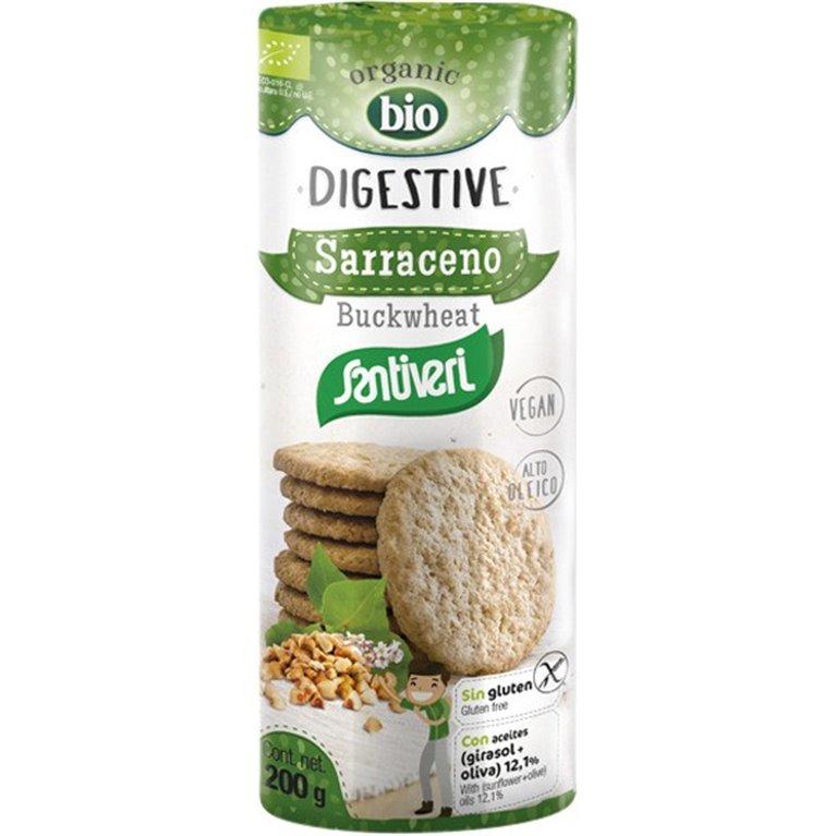 Galletas Digestivas con Trigo Sarraceno Sin Gluten Bio 200g, 1 ud