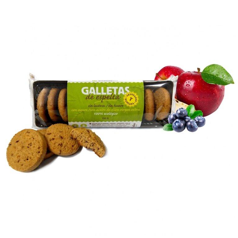 Galletas espelta arándano y manzana, 150 gr