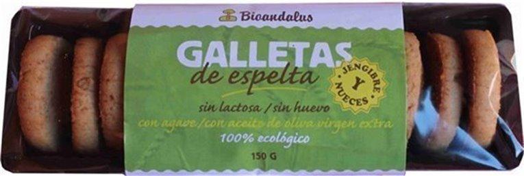 Galletas espelta jengibre y nueces, 150 gr