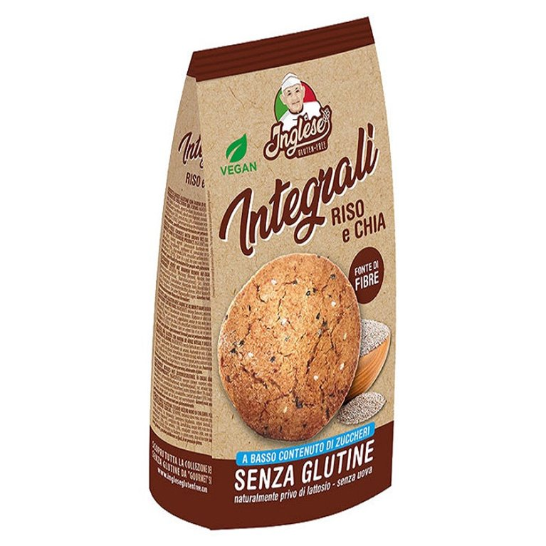 Wholemeal Biscuits with Rice & Chia Gluten Free 300g