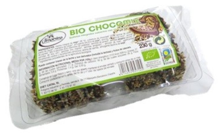 Galletas Integrales cubiertas con Chocolate y Mix de Semillas Bio 190g, 1 ud