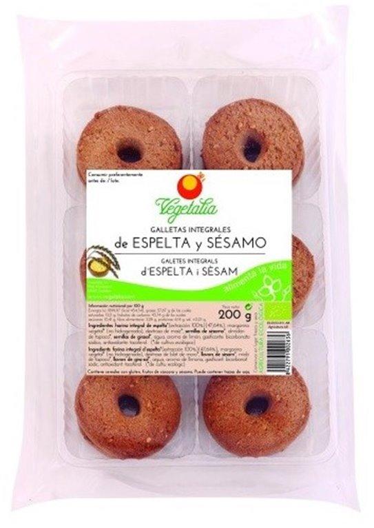 Galletas Integrales de Espelta y Sésamo Bio 200g, 1 ud