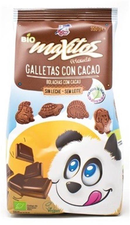 Galletas Maxitos de Espelta y Arroz con Cacao (Sin Azúcar) Bio 350g