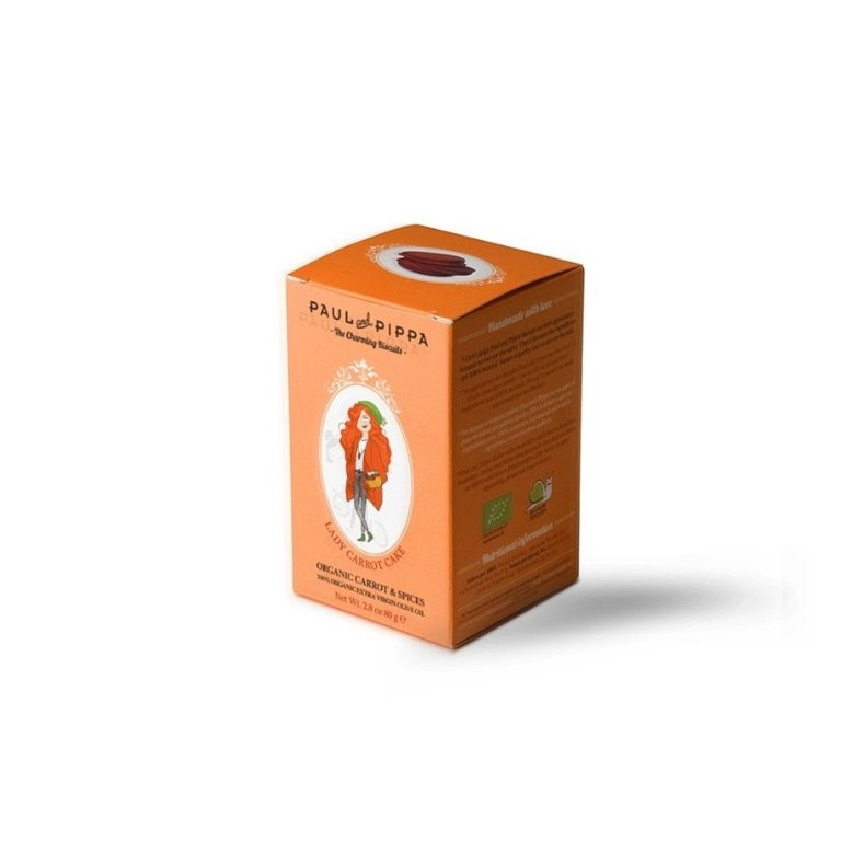 Galletas Paul and Pippa Carrot Cake Organic 100 gr., 1 ud
