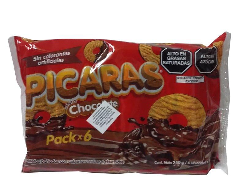 GALLETAS PICARAS CHOCOLATE  240 GR
