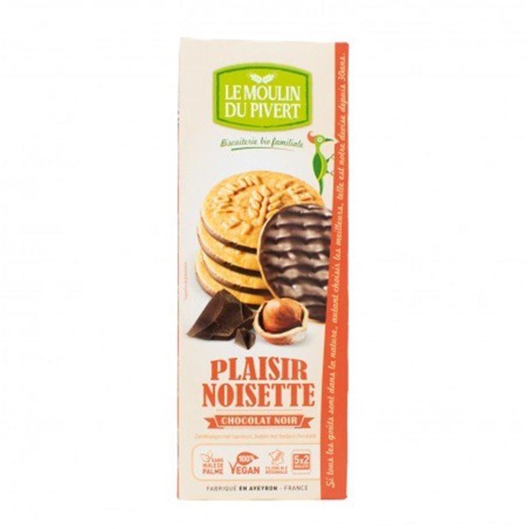 Galletas Placer de Chocolate Negro y Avellanas Bio Fairtrade 130g