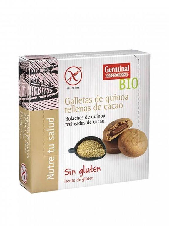 Galletas quinoa rellenas de cacao, 200 gr