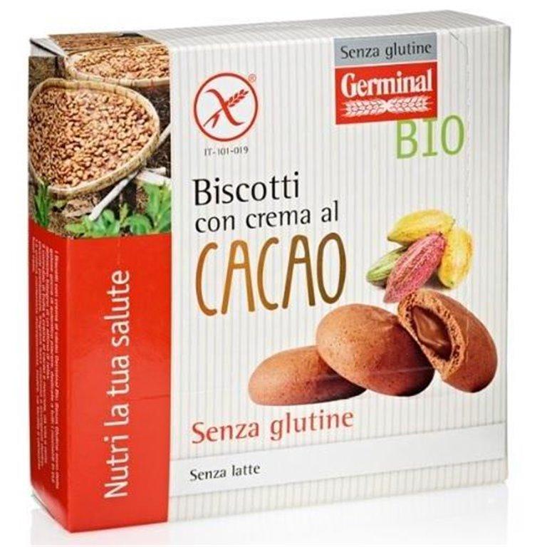 Galletas Rellenas de Crema de Cacao Sin Gluten Bio 200g, 1 ud